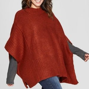 Universal Threads Ribbed Poncho Sweater